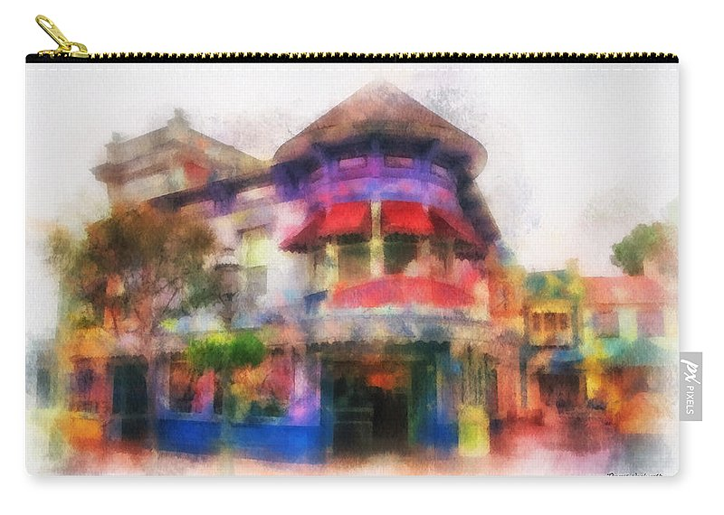 Disney Carry-all Pouch featuring the photograph Disney Clothiers Main Street Disneyland Photo Art 01 by Thomas Woolworth