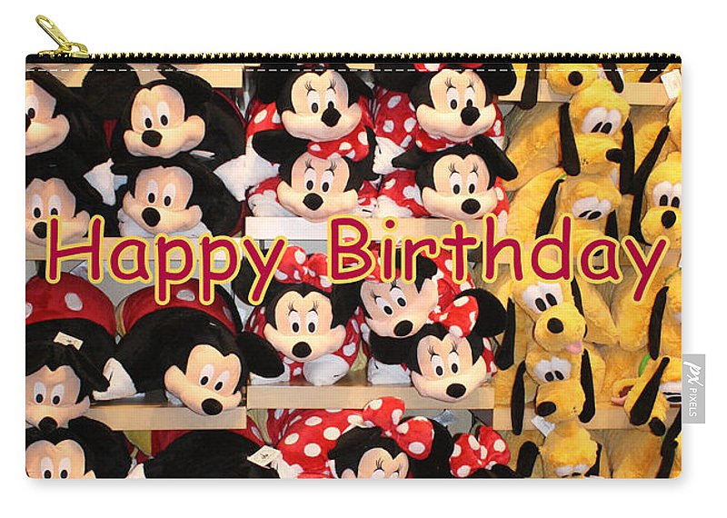Greetings Cards Carry-all Pouch featuring the photograph Disney Cuddlies by David Nicholls