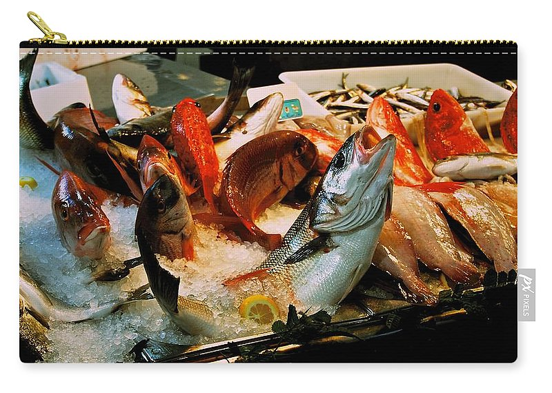 Fish Carry-all Pouch featuring the photograph Display Fish by Eric Tressler