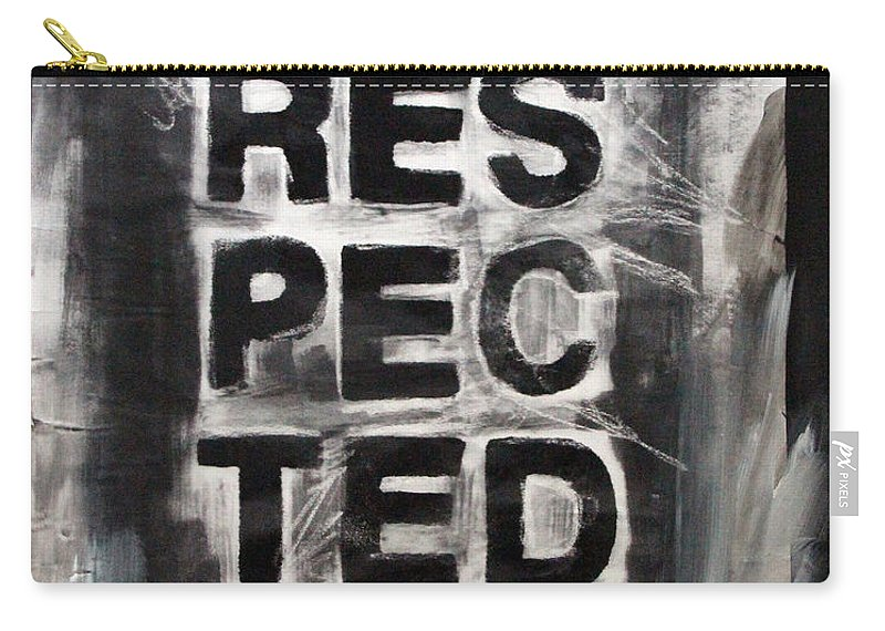 Disrespect Carry-all Pouch featuring the painting Disrespected Yo by Linda Woods