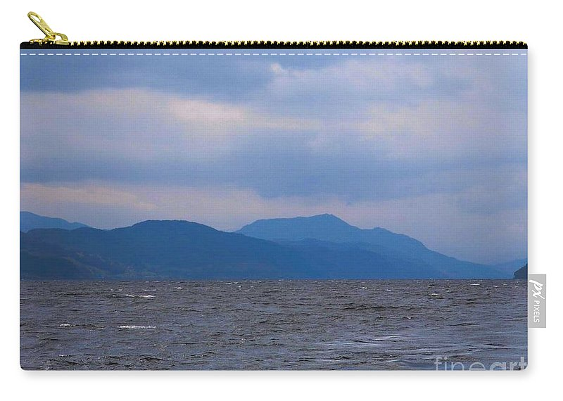 Loch Ness Carry-all Pouch featuring the photograph Distant Hills At Loch Ness by Joan-Violet Stretch
