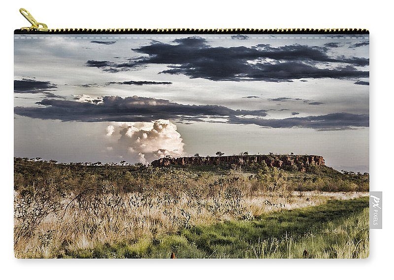 Rain Clouds Carry-all Pouch featuring the photograph Distant Rock by Douglas Barnard