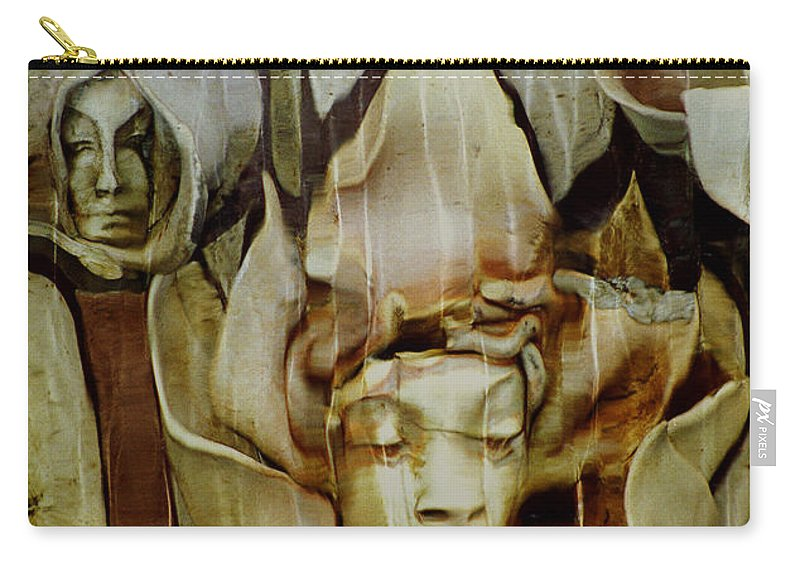 Distortion Carry-all Pouch featuring the photograph Distortion by Penny Lisowski