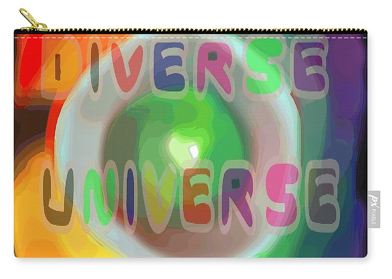 Diverse Carry-all Pouch featuring the painting Diverse Universe by Pharris Art