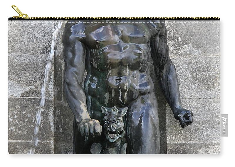 Fountain Carry-all Pouch featuring the photograph Divine Fountain by Christiane Schulze Art And Photography