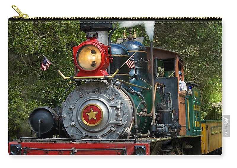 Dixiana Carry-all Pouch featuring the photograph Dixiana Engine 2 by Richard J Cassato