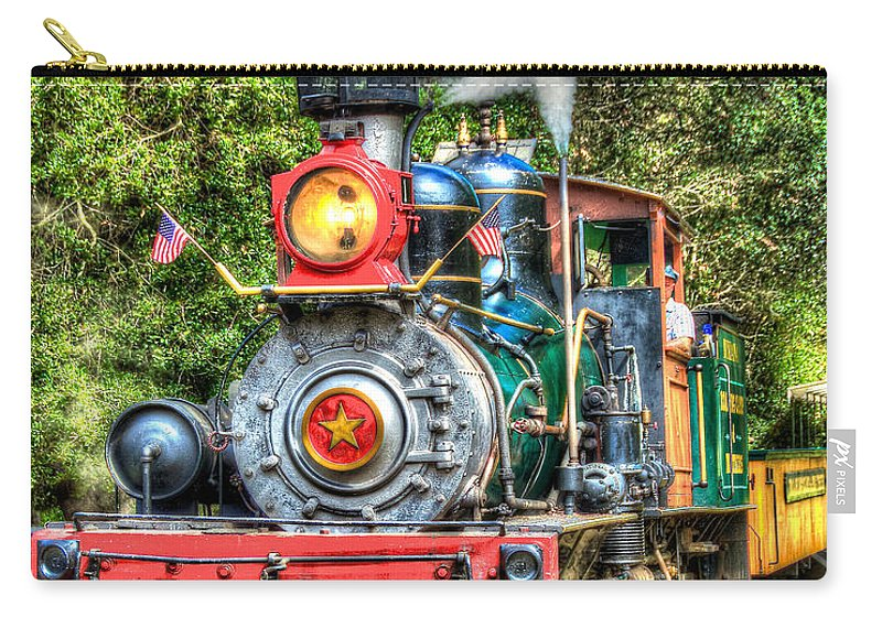 Dixiana Carry-all Pouch featuring the photograph Dixiana Engine by Richard J Cassato