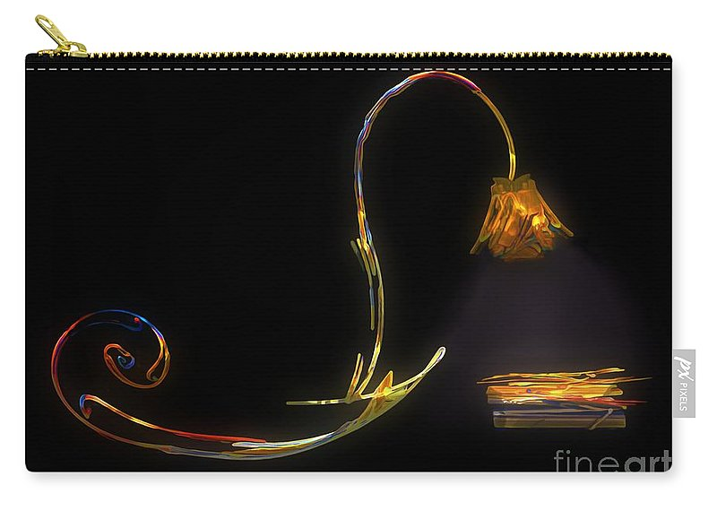 Lamp Carry-all Pouch featuring the painting Do Not Go Gentle by RC deWinter
