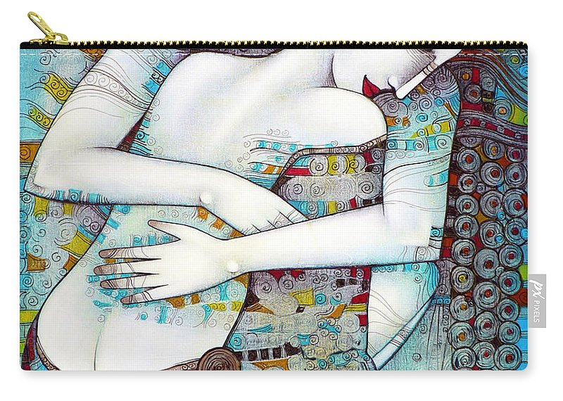 Love Carry-all Pouch featuring the painting Do Not Leave Me by Albena Vatcheva