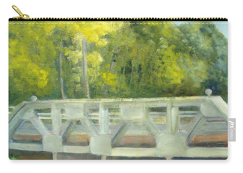 Smithville Park Carry-all Pouch featuring the painting Do You Paint Fish? by Sheila Mashaw