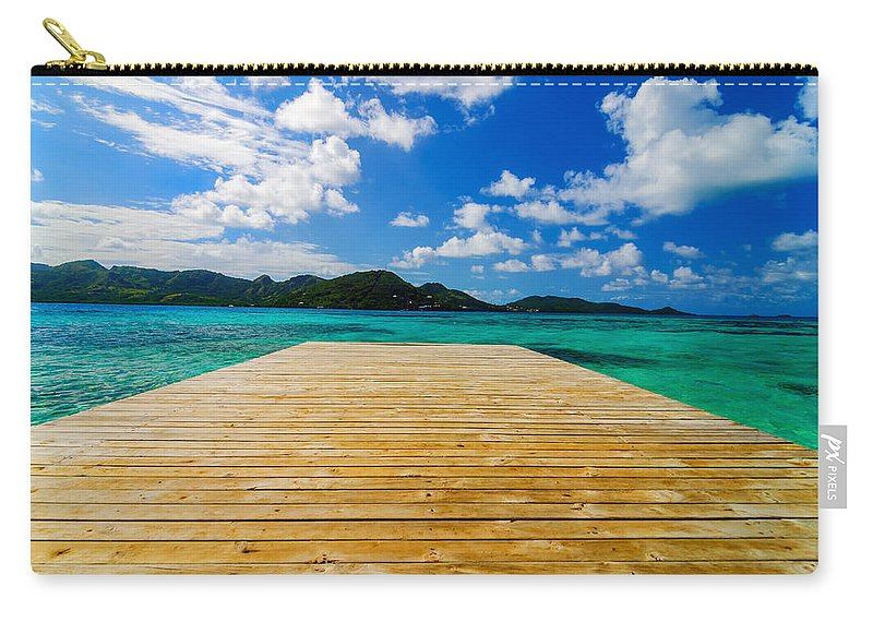 Bay Carry-all Pouch featuring the photograph Dock And Beautiful Water by Jess Kraft