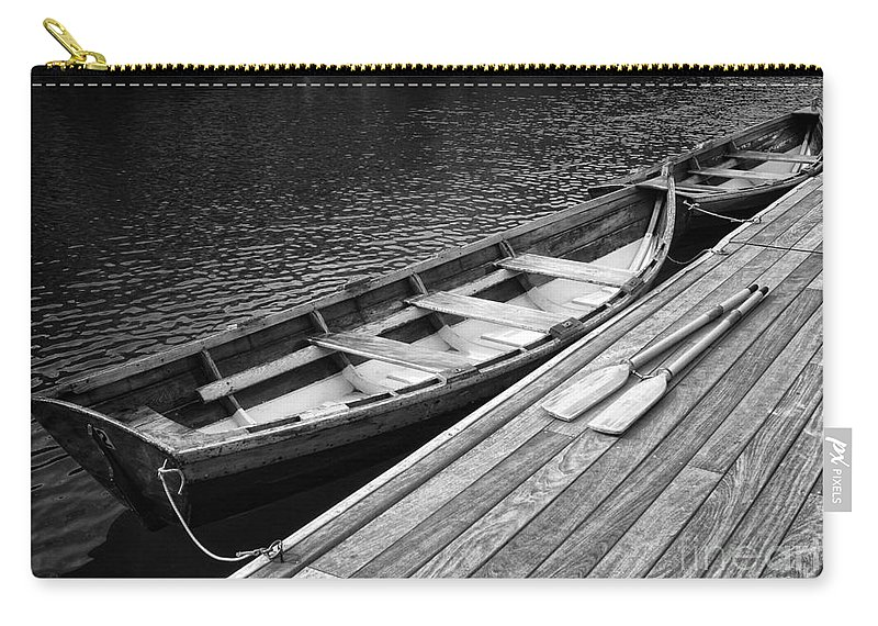 Boats Carry-all Pouch featuring the photograph Docked by Claudia Kuhn