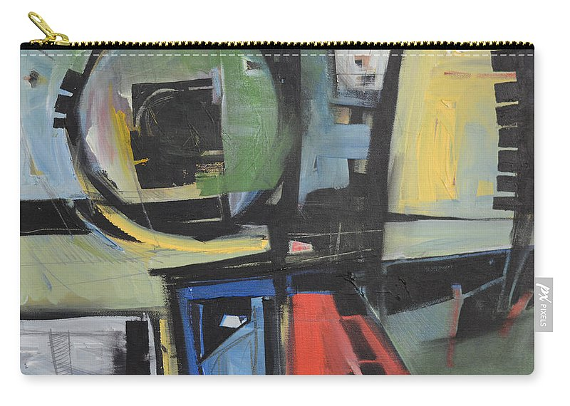 Abstract Carry-all Pouch featuring the painting Dockside by Tim Nyberg