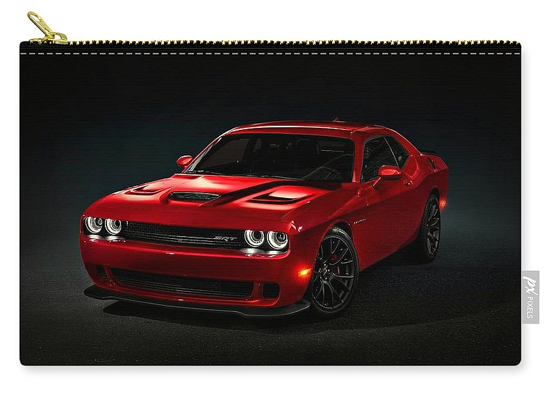 Dodge Carry-all Pouch featuring the photograph Dodge Challenger S R T Hellcat by Movie Poster Prints