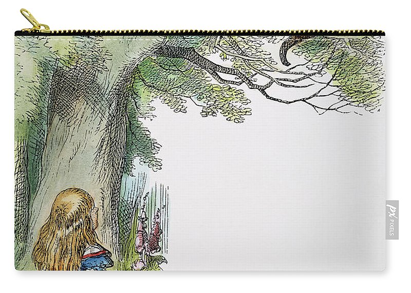 1865 Carry-all Pouch featuring the photograph Dodgson: Alice, 1865 by Granger