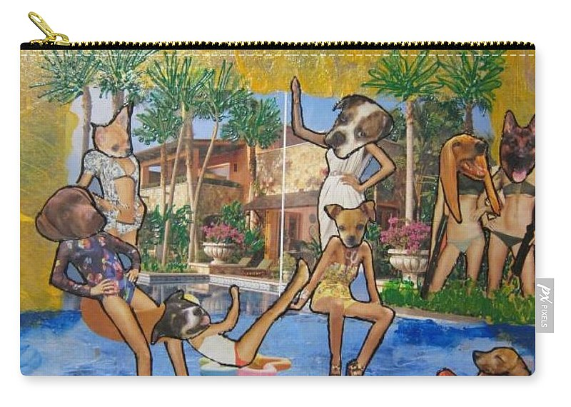 Dogs Carry-all Pouch featuring the painting Dog Days Of Summer by Lisa Piper