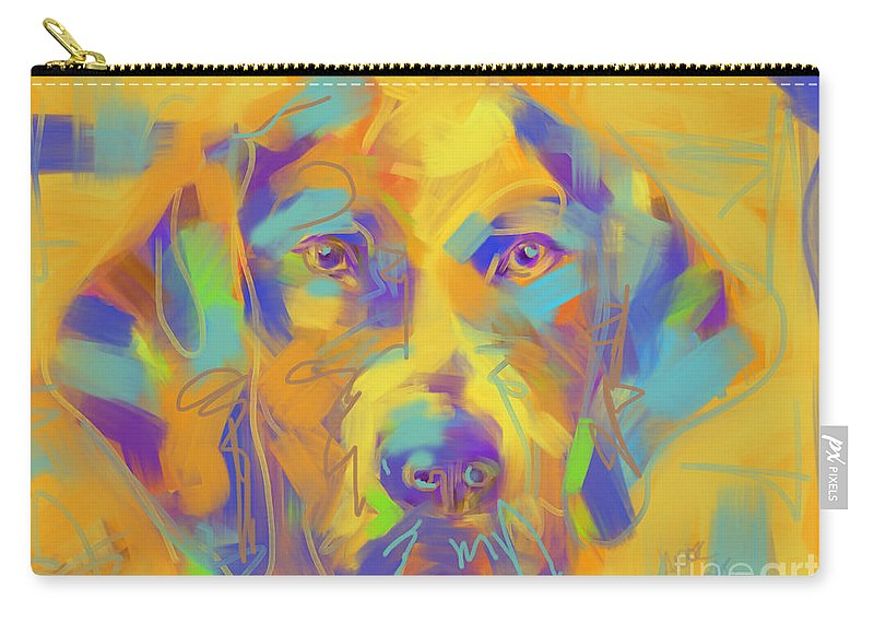 Dog Carry-all Pouch featuring the painting Dog Noor by Go Van Kampen