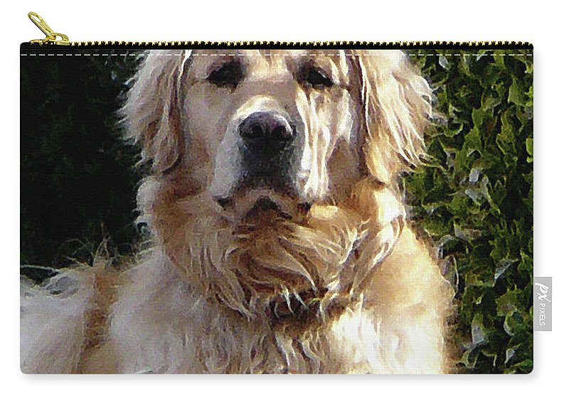 Dog Carry-all Pouch featuring the photograph Dog On Guard by Susan Savad