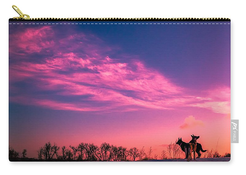 Dogs Carry-all Pouch featuring the photograph Dog Sunrise 2 by Chad Rowe