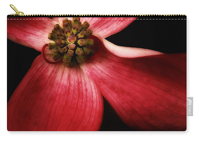 Dogwood Carry-all Pouch featuring the photograph Dogwood Macro by Mike Nellums