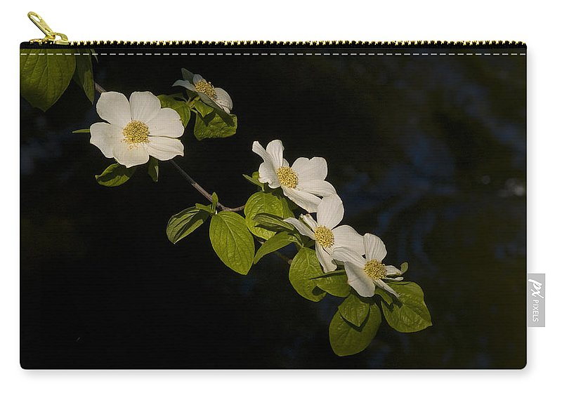 Yosemite Carry-all Pouch featuring the photograph Dogwood On The River by Bill Gallagher