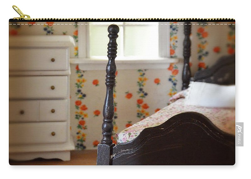 Dollhouse Carry-all Pouch featuring the photograph Dollhouse Bedroom by Jill Battaglia