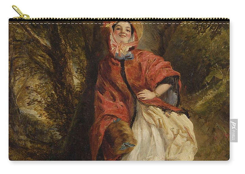 William Powell Frith Carry-all Pouch featuring the digital art Dolly Vardon by William Powell Frith