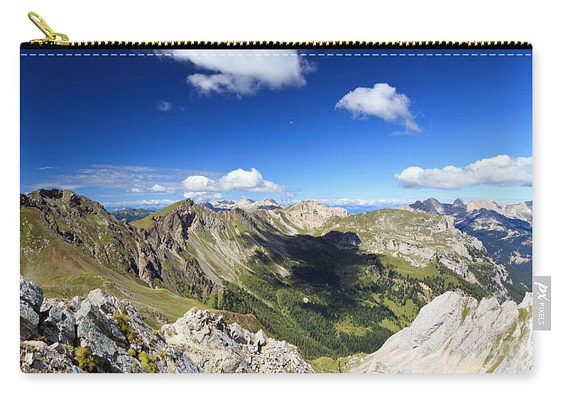 Aerial Carry-all Pouch featuring the photograph Dolomites Landscape On Summer by Antonio Scarpi