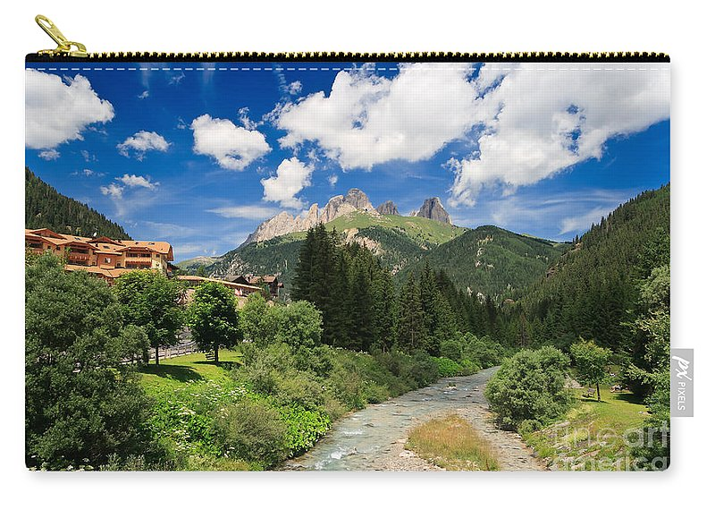 Alpine Carry-all Pouch featuring the photograph Dolomiti - Fassa Valley by Antonio Scarpi