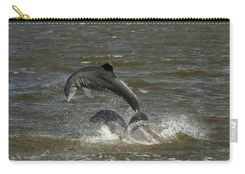 Dolphin Carry-all Pouch featuring the photograph Dolphin by Christiane Schulze Art And Photography