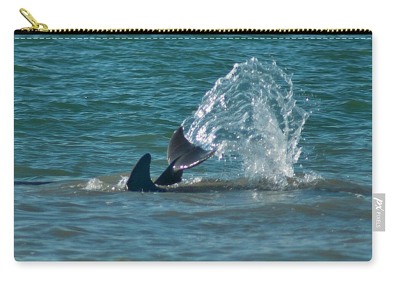 Dolphin Carry-all Pouch featuring the photograph Dolphin Tale by Stephen Whalen