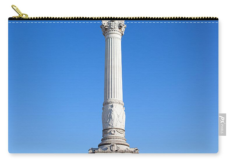 Lisbon Carry-all Pouch featuring the photograph Dom Pedro Iv Monument In Lisbon by Artur Bogacki