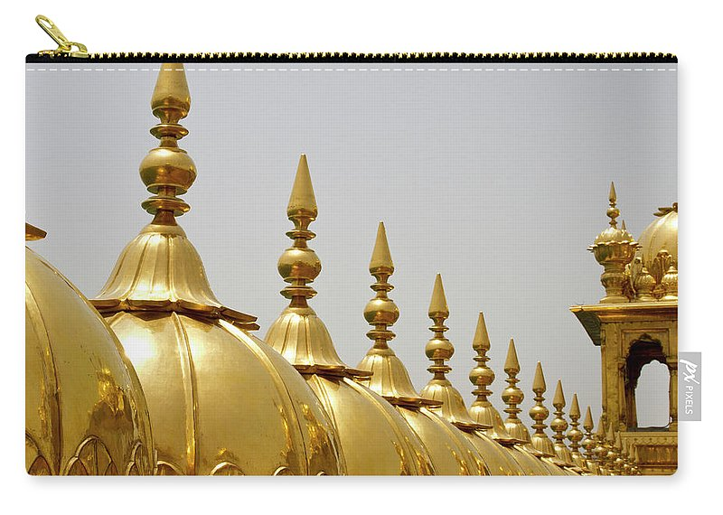 Tranquility Carry-all Pouch featuring the photograph Domes At Golden Temple by *swatikulkarni*