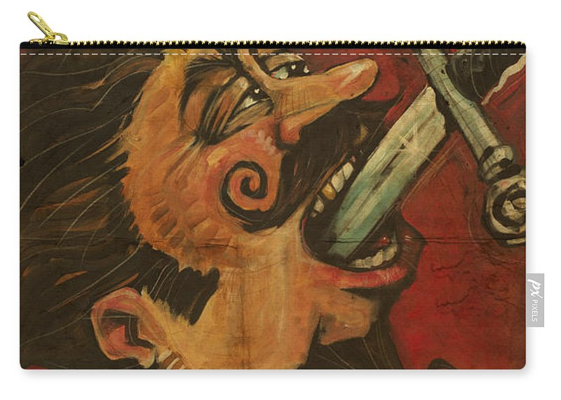 Sword Swallower Carry-all Pouch featuring the painting Dominick The Daring Poster by Tim Nyberg
