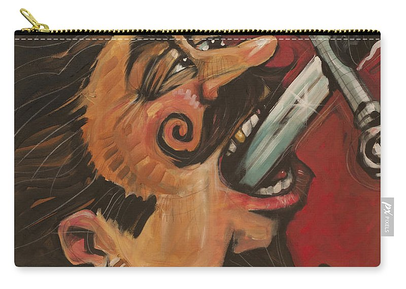 Sword Swallower Carry-all Pouch featuring the painting Dominick The Daring by Tim Nyberg