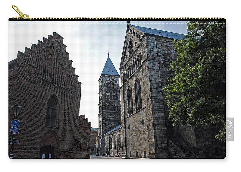 Domkyrkan Carry-all Pouch featuring the photograph Domkyrkan Lund Se 11 by Jeff Brunton