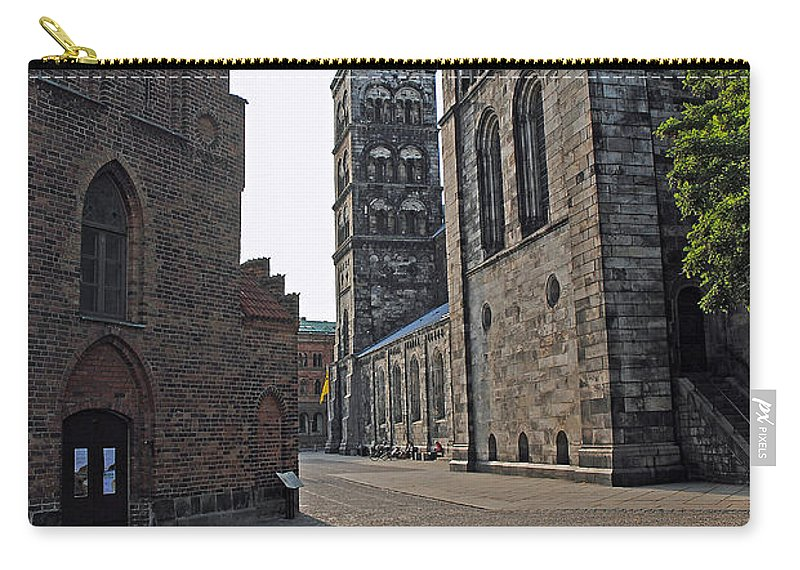 Domkyrkan Carry-all Pouch featuring the photograph Domkyrkan Lund Se 12 by Jeff Brunton