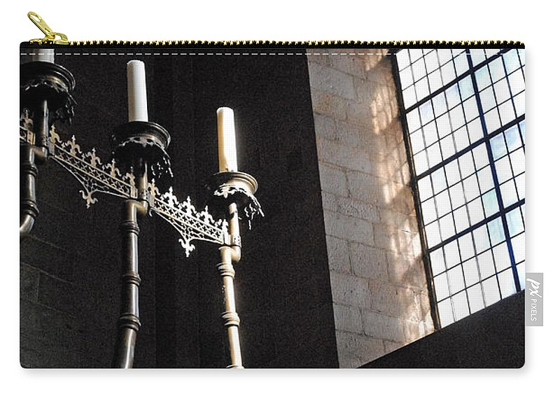 Domkyrkan Carry-all Pouch featuring the photograph Domkyrkan Lund Se A 16 by Jeff Brunton