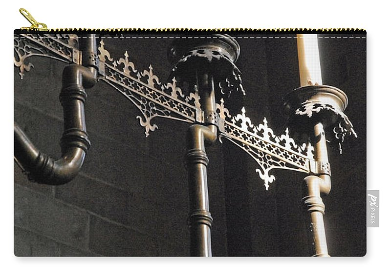 Domkyrkan Carry-all Pouch featuring the photograph Domkyrkan Lund Se A 17 by Jeff Brunton