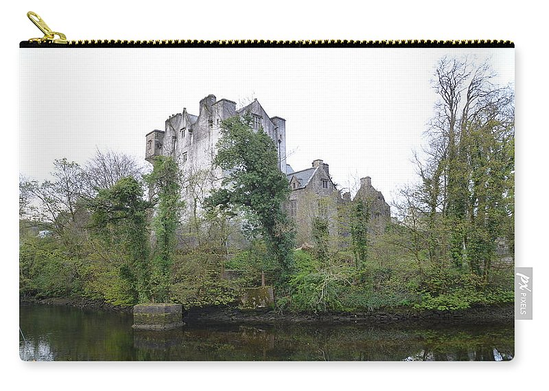Donegal Carry-all Pouch featuring the photograph Donegal Castle Ruins by Bill Cannon