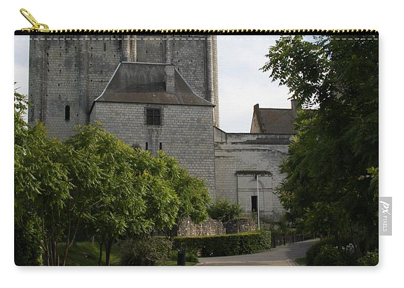Donjon Carry-all Pouch featuring the photograph Donjon Loches - France by Christiane Schulze Art And Photography