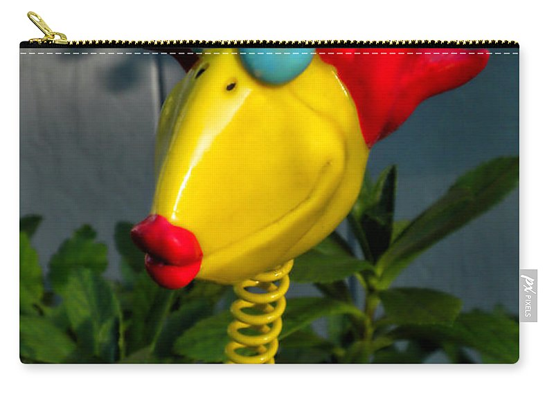 Donna Carry-all Pouch featuring the photograph Donna's Bird Says Kiss Me by Thomas Woolworth