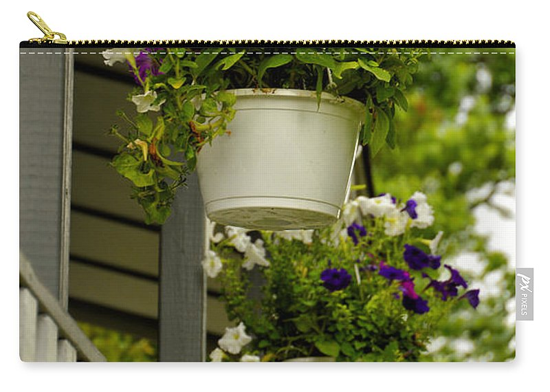 Donna Carry-all Pouch featuring the photograph Donna's Petunias by Thomas Woolworth