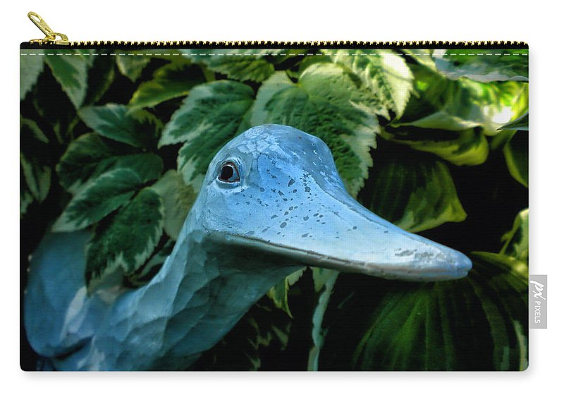 Donna Carry-all Pouch featuring the photograph Donna's Quack by Thomas Woolworth