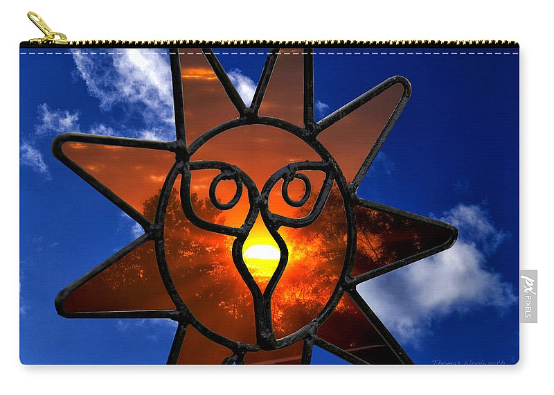 Donna Carry-all Pouch featuring the photograph Donna's Sunset by Thomas Woolworth