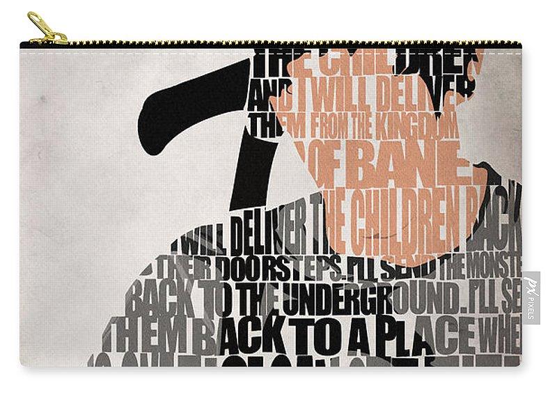 Donnie Darko Carry-all Pouch featuring the digital art Donnie Darko Minimalist Typography Artwork by Inspirowl Design