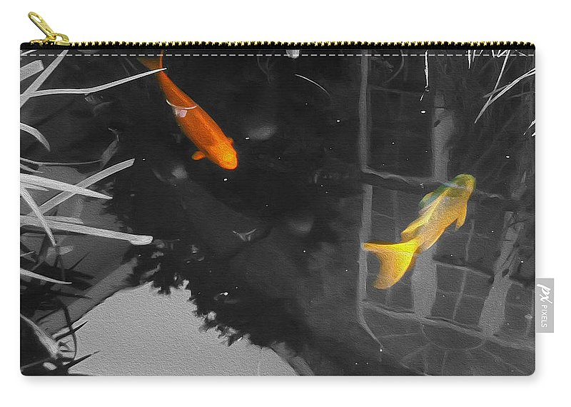 2d Carry-all Pouch featuring the photograph Don't Be Koi by Brian Wallace