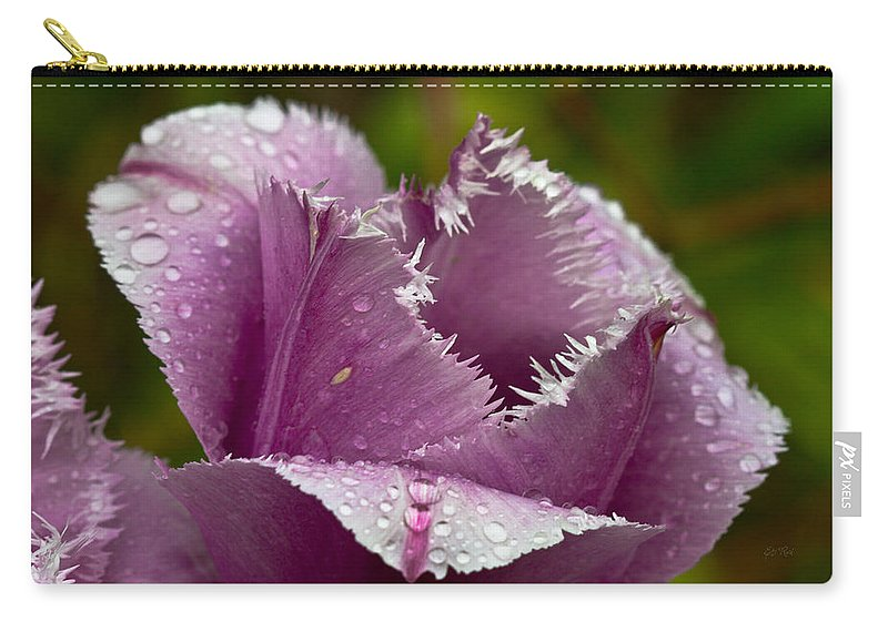 Tulip Carry-all Pouch featuring the photograph Dont Call Me A Monster Just Because I Have Teeth Purple Tulip by Eti Reid
