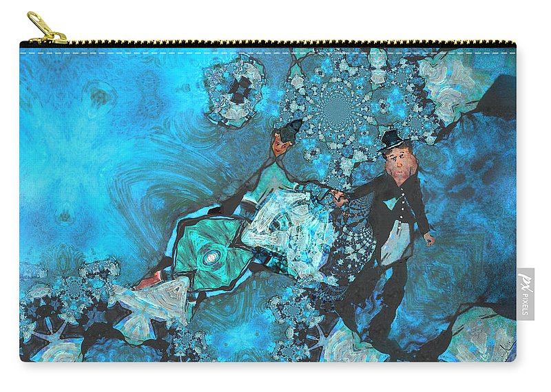 Fractal Carry-all Pouch featuring the painting Dont Go by Miki De Goodaboom
