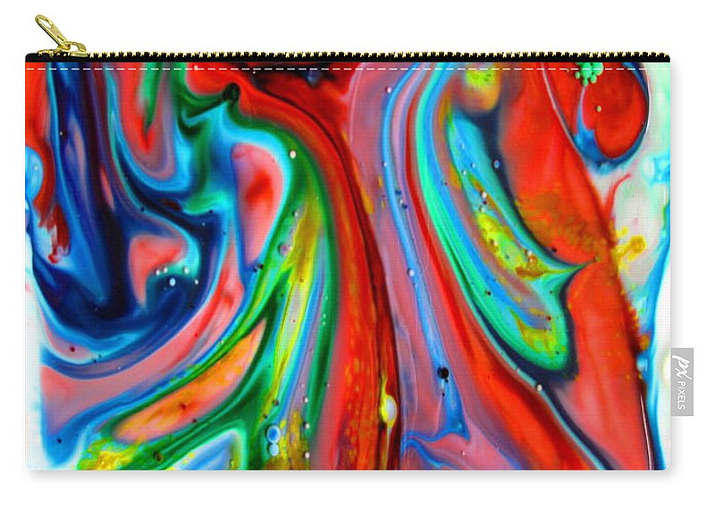 Liquid Carry-all Pouch featuring the painting Dont Worry Be Happy by Joyce Dickens